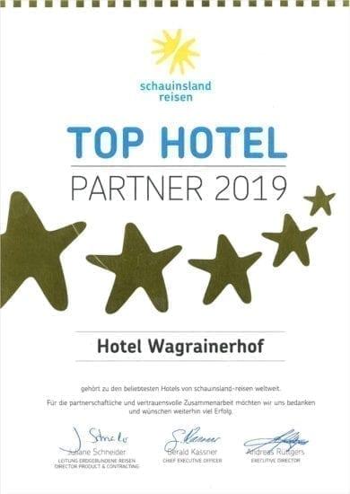Hotel Wagrainerhof - Auszeichnungen - Schauinsland Reisen 2019